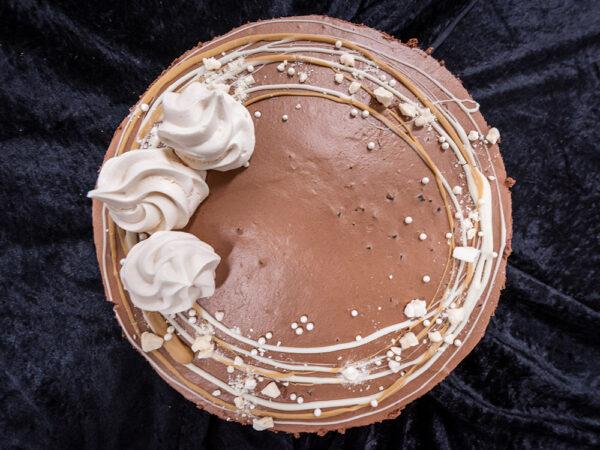 Moussekakku suklaa, viipale
